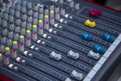 Sound mixing. Profesional studio equipment for sound mixing Royalty Free Stock Photo