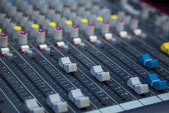 Sound mixing. Profesional studio equipment for sound mixing Royalty Free Stock Photos