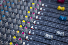 Sound mixing. Profesional studio equipment for sound mixing Stock Photo