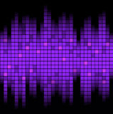 Sound of Music. Abstract music inspired graphic equalizer background. Vector illustration Stock Photos