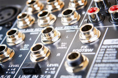 Sound music control  panel. Royalty Free Stock Photo