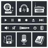 Sound and Music icon set Royalty Free Stock Photo