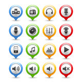 Sound and Music Icons. Set of sound and music icons Royalty Free Stock Image