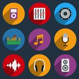 Sound and Music Icons Royalty Free Stock Image