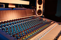 Sound music mixer Stock Photo