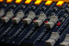Sound music mixer control panel Stock Image