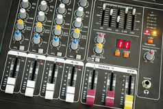 Sound music mixer control panel Stock Photography