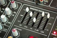 Sound music mixer control panel Stock Photos