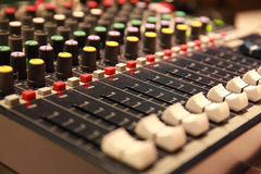 Sound music mixer control panel Stock Photos