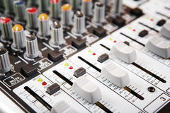 Sound music mixer control  panel. Royalty Free Stock Photography