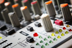 Sound music mixer control  panel. Stock Images