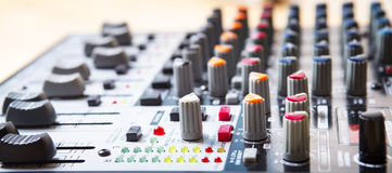 Sound music mixer control  panel. Stock Image