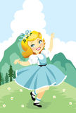 Sound of Music. A Swedish girl twirling to the sound of music Stock Photos