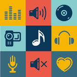 Sound and Music Vectors set Royalty Free Stock Image