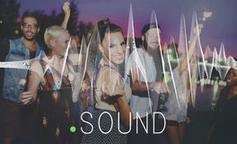 Sound Music Wave Melody Graphic Concept Royalty Free Stock Images