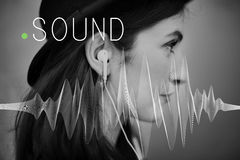 Sound Music Wave Melody Graphic Concept Royalty Free Stock Photo