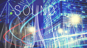 Sound Music Wave Melody Graphic Concept Stock Photos