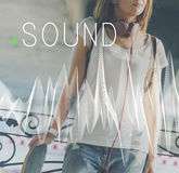 Sound Music Wave Melody Graphic Concept Royalty Free Stock Photos