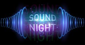 Sound night banner stock illustration
