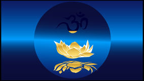 The sound Om or AUM stock video footage