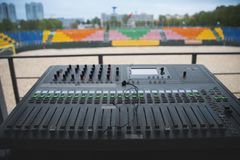 Sound panel royalty free stock photo