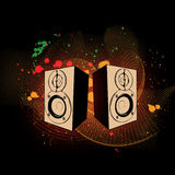 Sound power. Illustration useful for designing and illustrating sound & hi-fi themes Royalty Free Stock Images