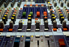 Sound producer mixer Stock Photo