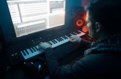 Sound producer working