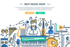 Sound Production - website header banner template Royalty Free Stock Photography