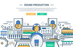Sound Production - website header banner template Royalty Free Stock Images