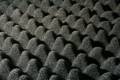 Sound proffing sponge. Black soft sponge used for packing and soundproofing royalty free stock photography