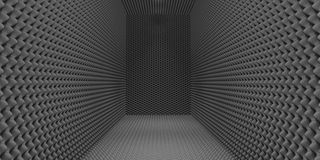 Sound-Proofed Room. A room clad in grey sound-proofing foam Stock Photos