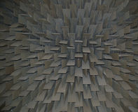 Sound proofing. Soft material used to significantly reduce noise in an anechoic soundproof room stock photos