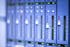 Sound recording audio studio Royalty Free Stock Photography