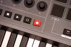 Sound recording button. Stock Images