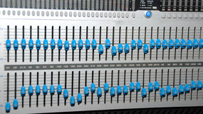 Sound Recording Equipment (Media Equipment). Audio effects processors in a rack. Sound Recording Equipment (Media Equipment). Recording studio Royalty Free Stock Image