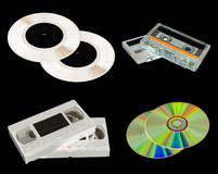 Sound recording items. inversion Royalty Free Stock Images