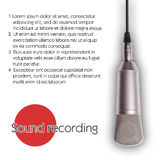 Sound recording microphone. On a white background banner Stock Photography