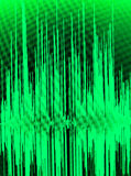 Sound recording studio audio. Wave on computer screen in professional editing program for voice, vocal, dj deejay musical mixing Stock Photos