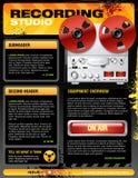 Sound recording studio brochure flyer vector. Sound recording studio brochure flyer detailed vector Royalty Free Stock Images