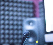 Sound recording studio mic Royalty Free Stock Photography