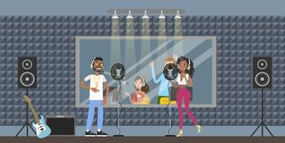 Sound recording studio. royalty free illustration