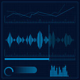 Sound reproduction design. Design element. Vector Illustration Royalty Free Stock Photo