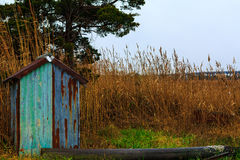 Sound side of North Wildwood NJ with fishing shacks and bay view Stock Photography