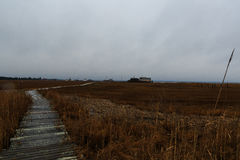 Sound side of North Wildwood NJ with fishing shacks and bay view Stock Images