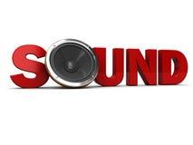 Sound sign Stock Photo