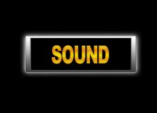 Sound signboard Stock Photography