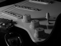 The sound of six strings stock photography