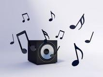 Sound speaker stock illustration