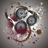 Sound Speaker with Floral Stock Photo
